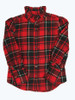 Red Plaid Button-Down Shirt, Little Girls