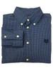 Blue & White Gingham Button Down Shirt, Little Boys