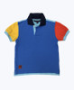 SOLD - Colorblock Pique Polo Shirt