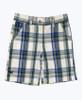Blue & Green Plaid Shorts