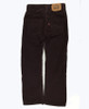 Burgundy Slim Straight Corduroy Pants