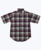 SOLD - Navy Green Plaid Button Down Shirt