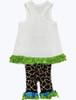 Ice Cream Top and Giraffe  Pants Set, Baby Girl