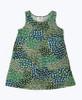 Green & Teal Sleeveless Dress, Toddler Girl