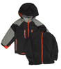 Boys Black Colorblock 3-ín-1 jacket