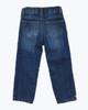 Fleece-Lined Dark Denim Jeans, Toddler Boys