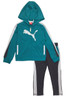 Teal/Gray Track Jacket and Pants Set, Little Boys
