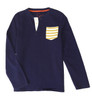 Boy Navy Yellow Stripe Pocket Shirt