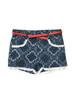 Girl Paisley Chambray Lace Shorts