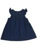 Dark Chambray Flutter-Sleeve Dress, Baby Girls