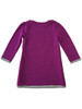 Purple Hearts and Kittens Sweater Dress, Toddler Girls