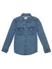 Chambray Roll-Sleeve Shirt, Little Girls