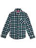 Blue Plaid Flannel Button-Up Shirt, Little Girls