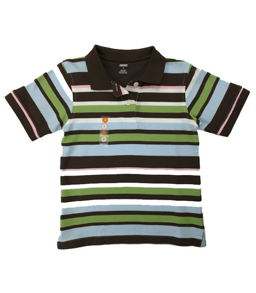 Multi-Color Striped Polo, Toddler Boys