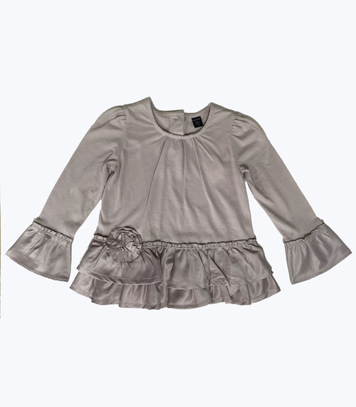 Mixed Fabric Top, Toddler Girl