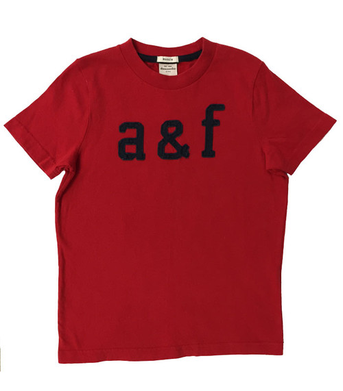 Red Short Sleeve Tee, Little Boys