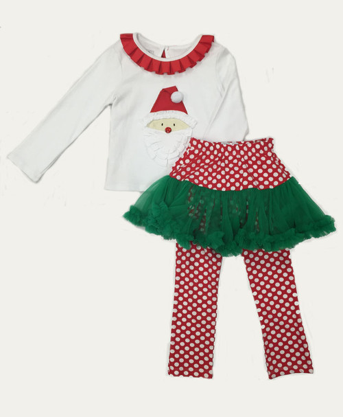 SOLD - Santa Pettiskirt Set