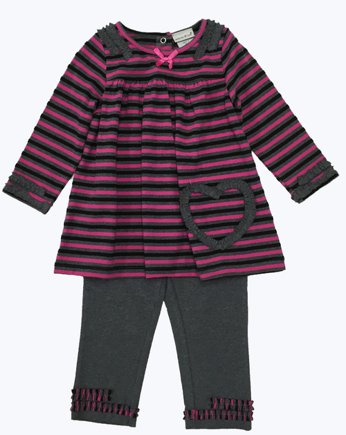 SOLD - Striped Tunic & Leggings