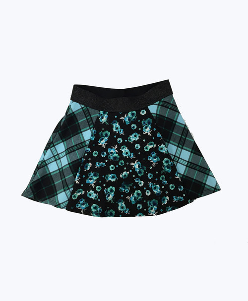 Floral/Plaid Skirt