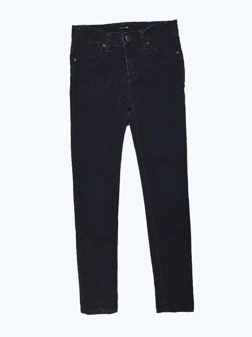 Velvet Print Denim Jeans, Big Girls