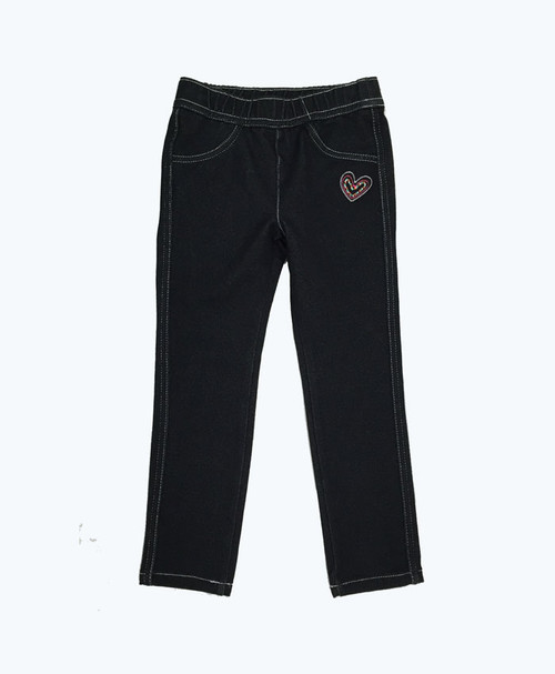 SOLD - Black Denim Leggings