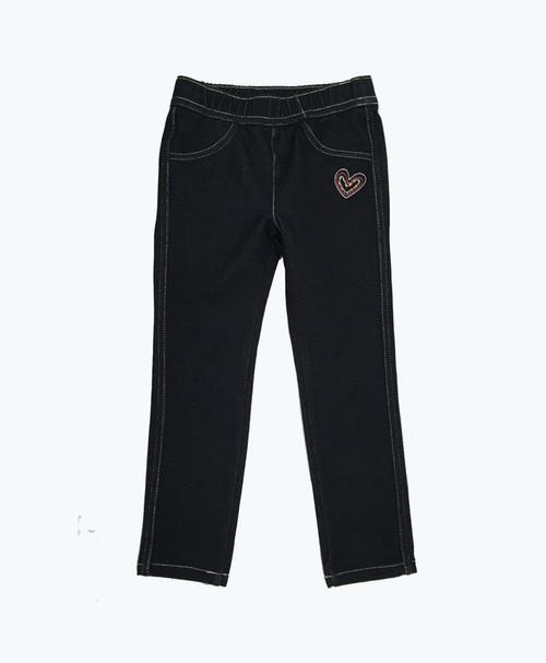 SOLD - Black Denim Leggings