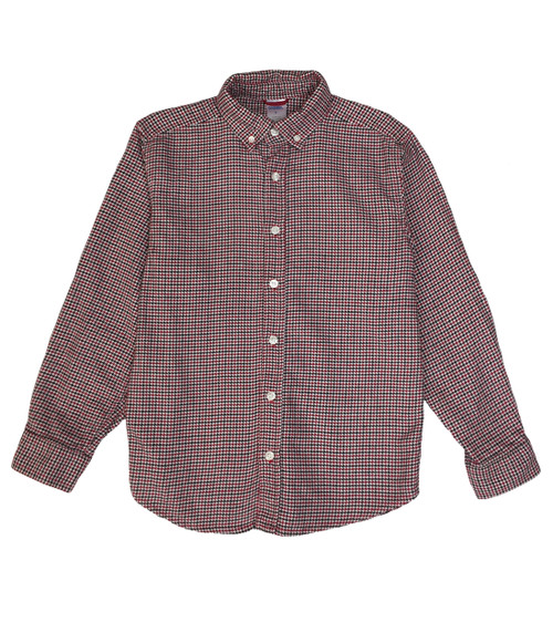 Red Black Check Button Down Shirt