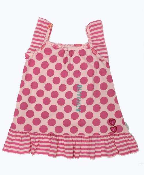 Pink Spot Tunic, Big Girls