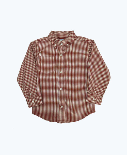Checkered Button Down Shirt, Toddler Boys