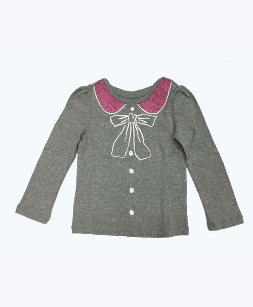 Glitter Long Sleeve Shirt, Toddler Girls
