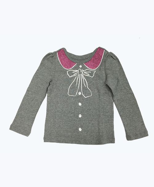Glitter Long Sleeve Shirt, Toddler Girls