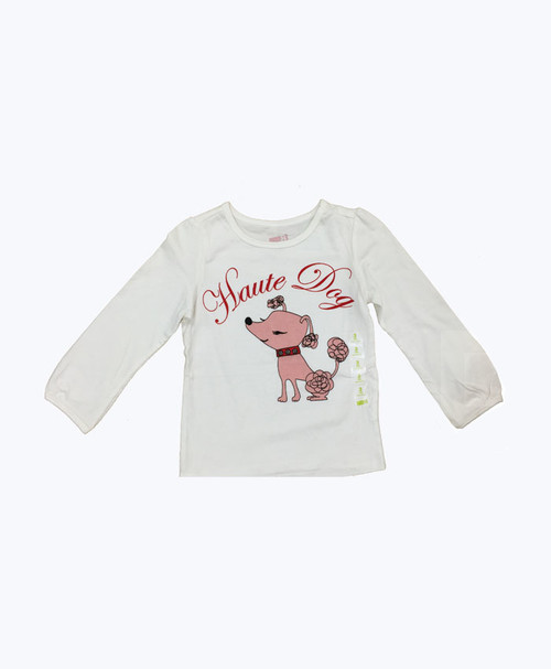 Poodle Graphic Shirt, Toddler Girls