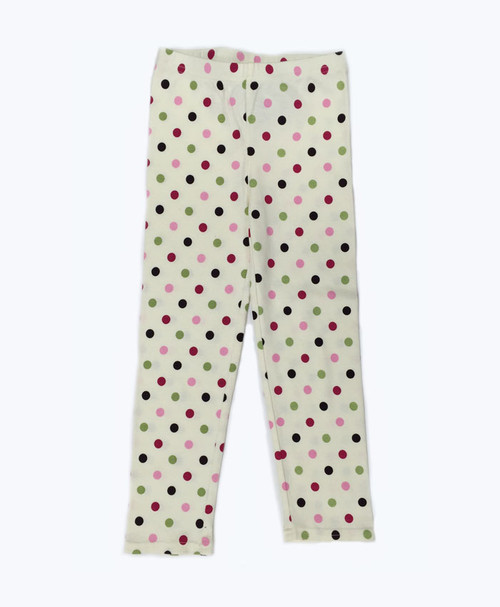 SOLD - Ivory Polka Dot Leggings
