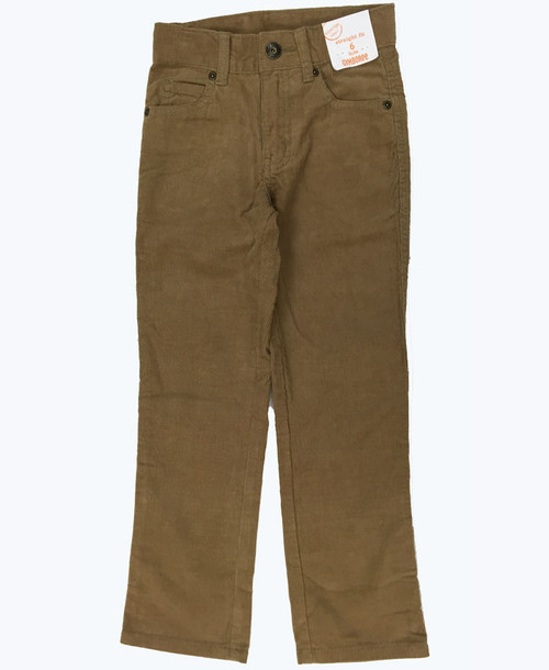 Straight Fit Slim Corduroy Pants
