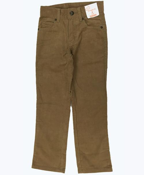 Straight Fit Slim Corduroy Pants