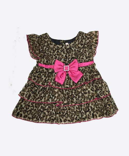 Animal-Print Dress w/ Bow