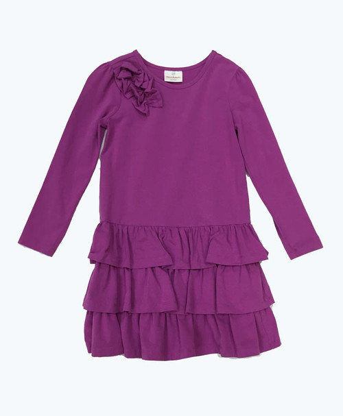 Light Purple Ruffle Dress, Little Girls