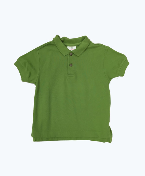 Green Organic Cotton Polo, Toddler Boys