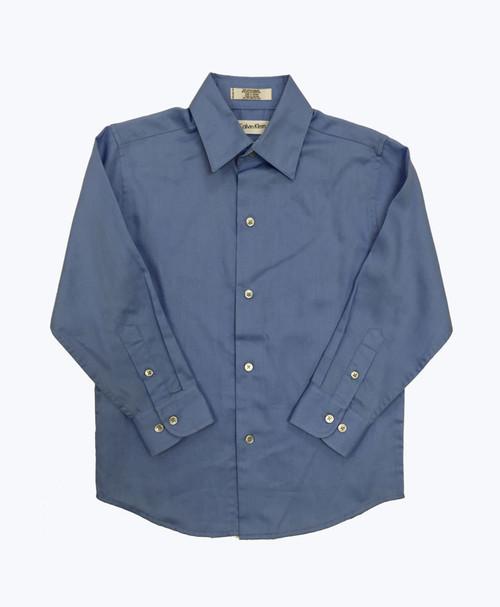 Long-Sleeve Sateen Dress Shirt - Light Blue