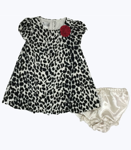 Animal Print Dress with Diaper Cover