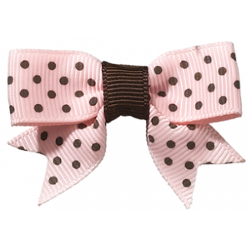 Dottie Dark Brown/Pink Clip
