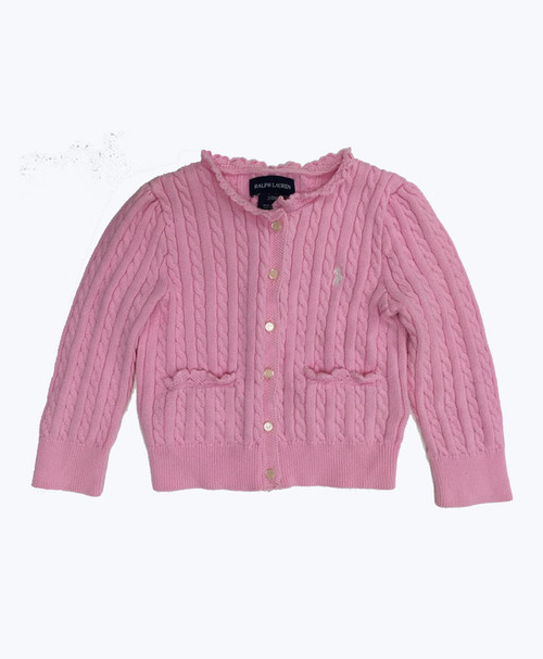 SOLD - Pink Cable Cardigan