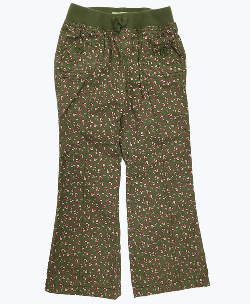 Girl Green Floral Pants