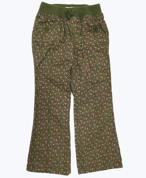 Girl Green Floral Pants