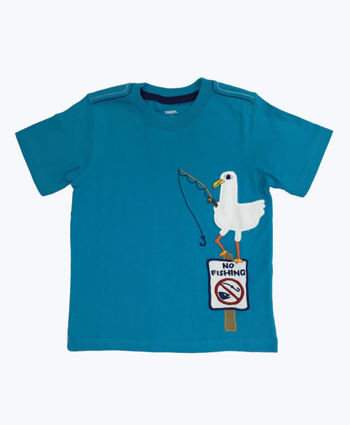 Fishing Appliqués Shirt, Toddler Boys