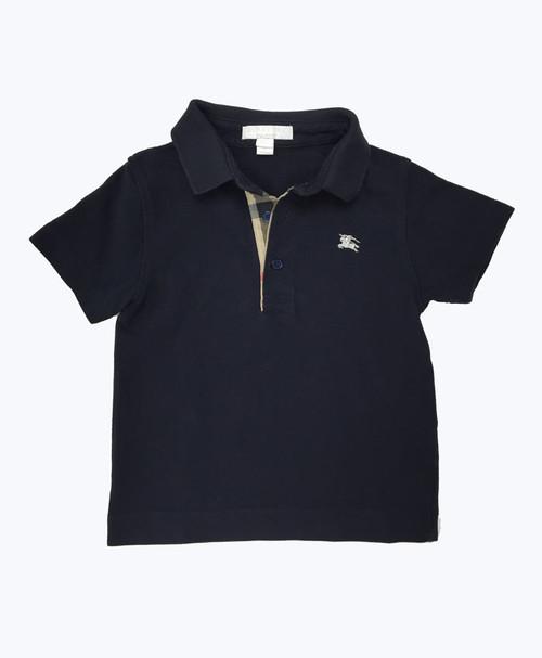 SOLD - Dark Navy Pique Polo Shirt