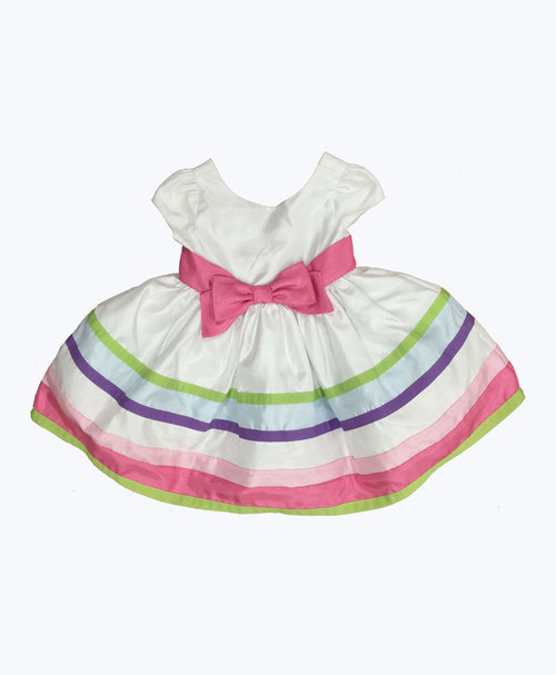 Multi-Color Stripe Ribbon Dress