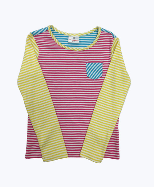 Multi-Color Striped Tee