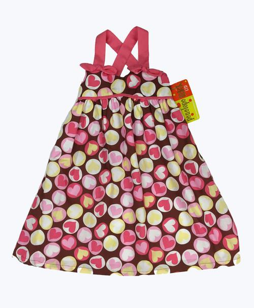 Pink & Brown Sleeveless Dress