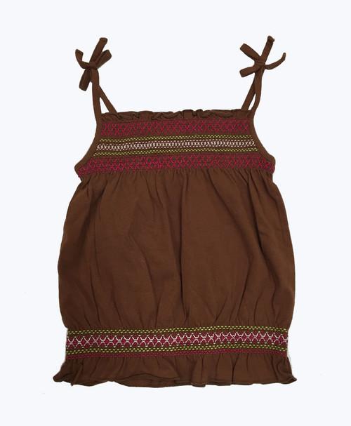 Brown Smocked Tank, Toddler Girls